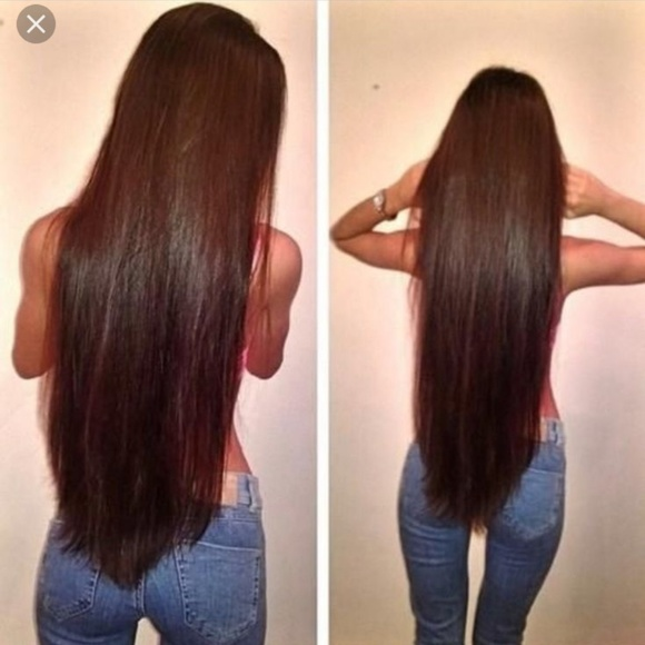 Accessories 30 Inch Brown Remy Human Hair Clip In Extensions